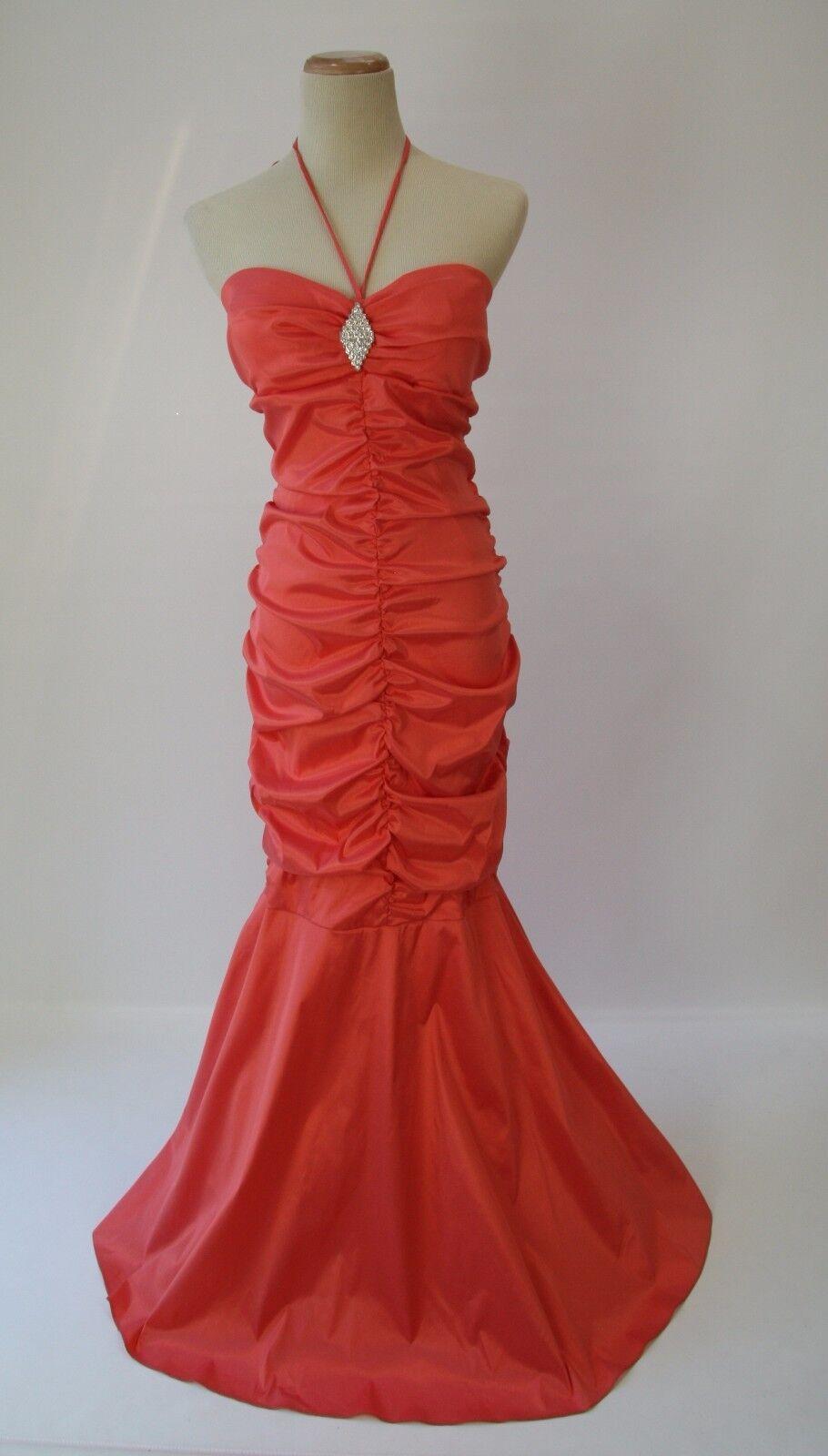 Windsor  Evening Prom Formal Cruise Cocktail Dress Größe 13 Tangerine Long