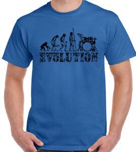 668ba37b8 Drumming Evolution - Mens Funny T-Shirt Drummer Drum Drumming Snare ...