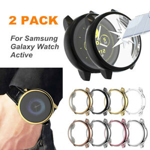 For-Samsung-Galaxy-Watch-Active-2Pcs-Smart-Watch-Screen-Protector-TPU-Case-Cover