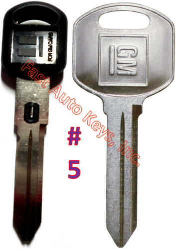 NEW GM Double Sided VATS Ignition Key #5 MADE IN USA Doors//Trunk OEM Key