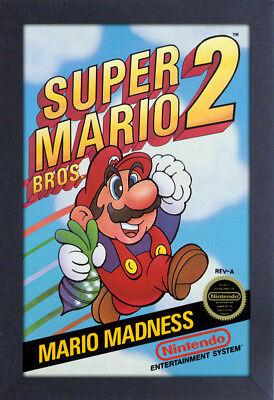 Super Mario Bros 2 Video Game 13x19 Framed Gelcoat Poster Nintendo