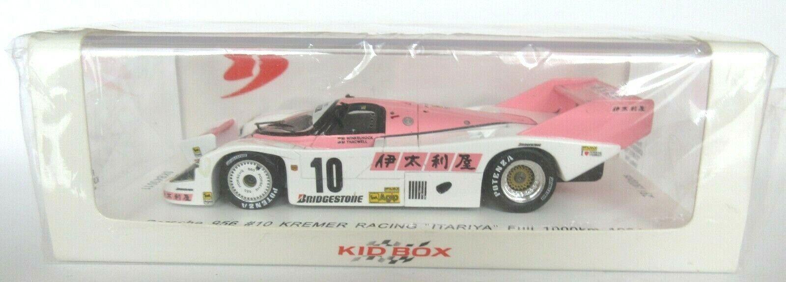 PORSCHE 956 #10 KREMER RACING FUJI 1000km 1984 1/43 Spark SKB43011 SÉRIE LIMITÉE