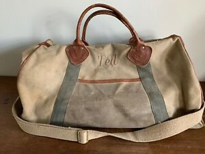 Admirable Details About Vintage Ll Bean Leather Handles Waxed Canvas Duffle Bag Weekend Bag 22 Ted Unemploymentrelief Wooden Chair Designs For Living Room Unemploymentrelieforg