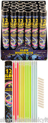 12 Confezione Di Glowsticks Fosforescente Festa Rave Essentials Costume