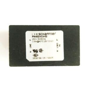 Filtro rete antidisturbo SCHAFFNER FN402-0.5-02 250Vac 0,5A stampato PCB