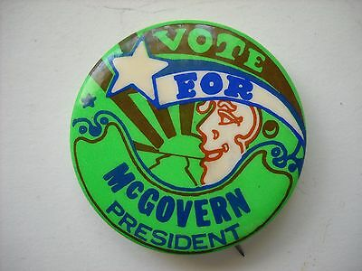 Vintage PSYCHEDELIC Vote For George McGOVERN President Pinback Button