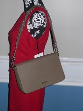 New  DKNY Handbag, Saffiano Bryant Park leather brown bag purse khaki cross body