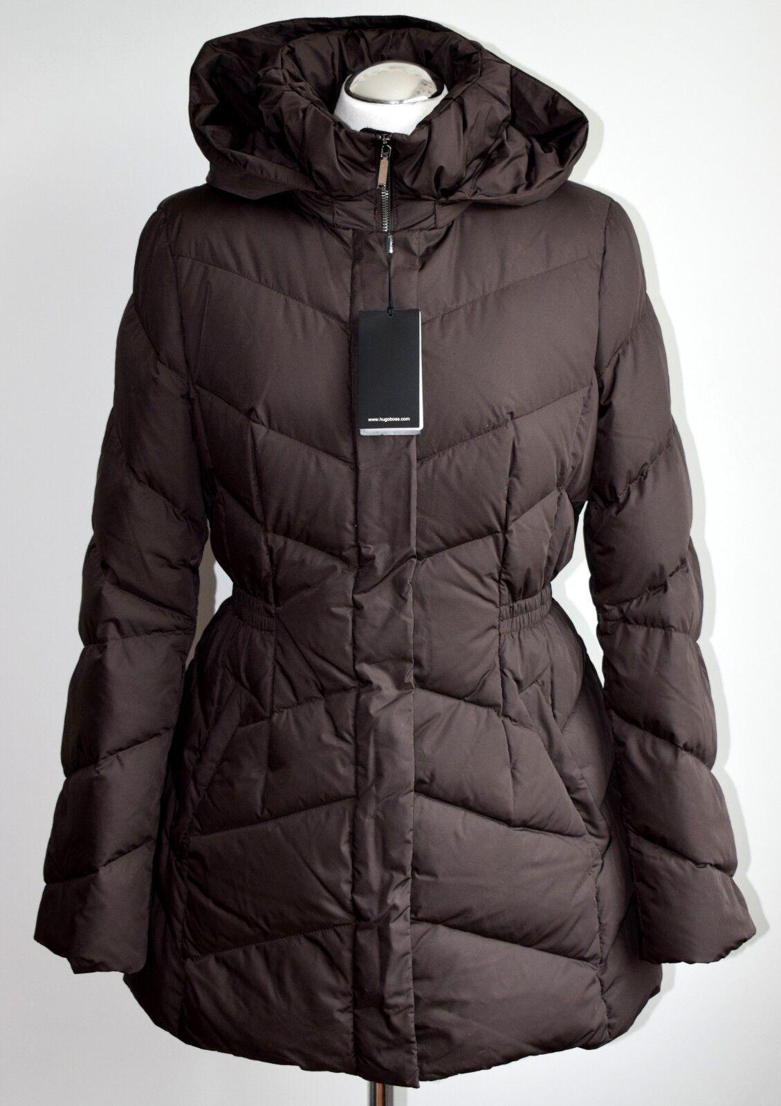 HUGO BOSS Damen Daunen Mantel Pivette 1 braun 90% Daunen 10% Federn Größe 42