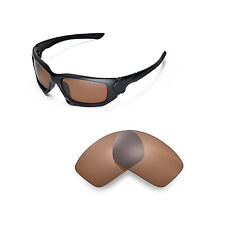 New Walleva Polarized Brown Replacement Lenses For Oakley Scalpel Sunglasses