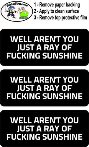 3 Ray Of Sunshine Hard Hat Biker Helmet Sticker Bs569 3
