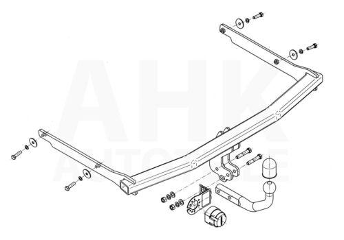 Für Mazda 3 BK 5-Tür 03-09 Kpl Anhängerkupplung starr+E-Satz 13p