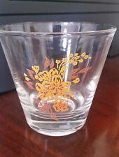 Set of 4 Retro High Ball Drinking Glasses Orange/ Brown Fall Colors 8 oz. Nice!