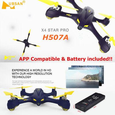 Hubsan X4 FPV H507A Pro Drone GPS 720P HD Camera Follow Me APP RTH GPS RTF IN UK