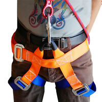 Climbing Harness Safe Safety Seat Belt Body Guide Outdoor Rappelling Equip