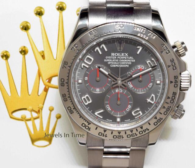 Rolex Cosmograph Daytona 18k White Gold 40mm Blue Dial Watch 116509