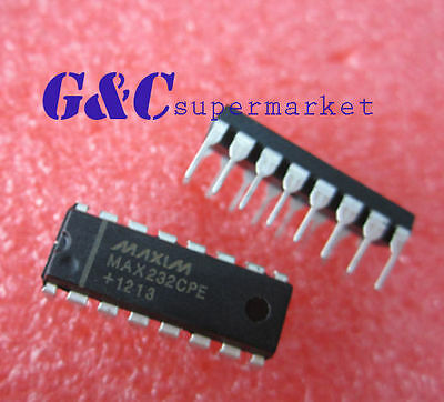 5PCS  IC MAX232CPE MAX232 2DVR/2RCVR RS232 5V 16-DIP  NEW DATE CODE