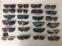 Wholesale Lot Of 100 Pairs- Name Brand Fashion Sunglasses 100% Uva & Uvb