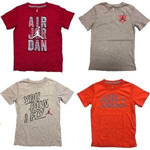 20fedae3e40 Image is loading Jordan-Boys-Graphic-Print-Short-Sleeve-Shirts-Mixed-
