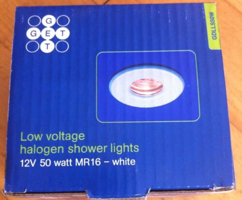 12V GET IP54 WHITE BATHROOM SHOWER DOWN LIGHT ZONE 2 /& 3 GU10 BRAND NEW IN BOX