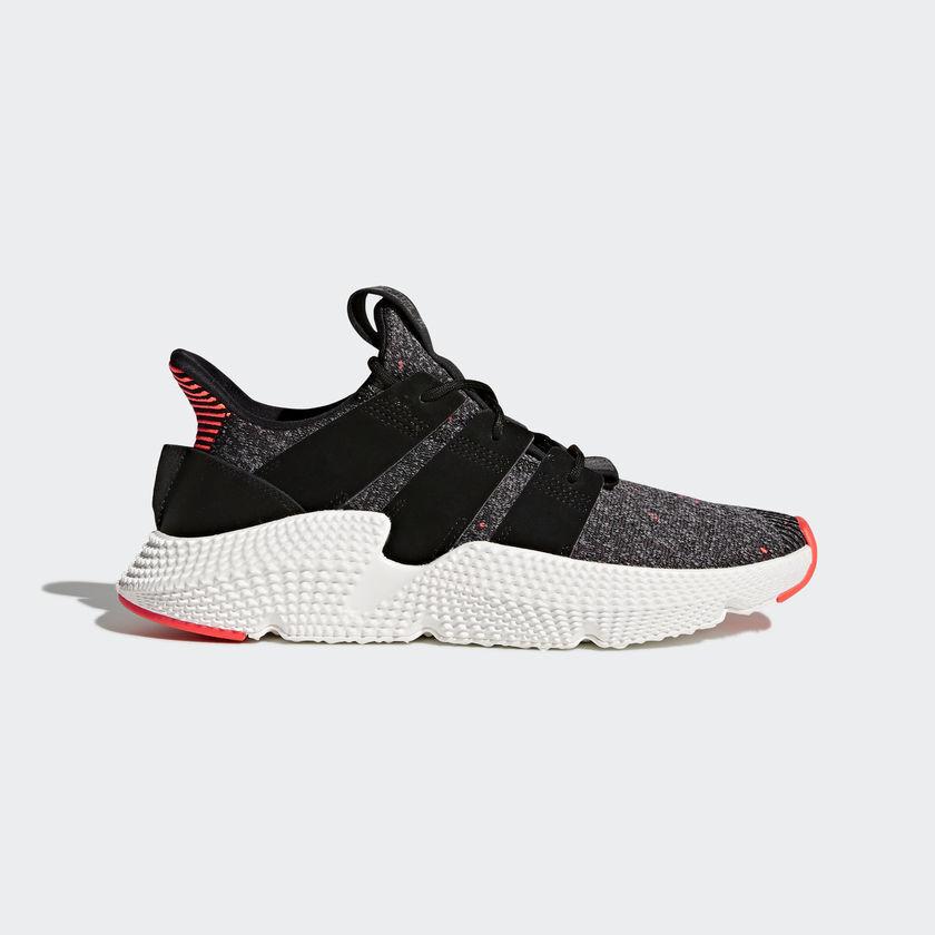 6a90ec24e3fca Adidas Originals Mens shoes Black Black Solar Red CQ3022 Prophere ...