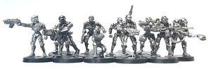 Skeletal-Robots-x10-28mm-Unpainted-Metal-Wargames