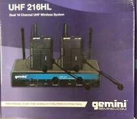 Gemini - Uhf-216hl - 2-channel Uhf Headset/lav Wireless System