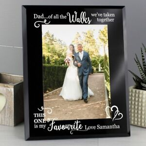 Personalised 5x7 Father Of The Bride Glass Frame Wedding Gift Dad