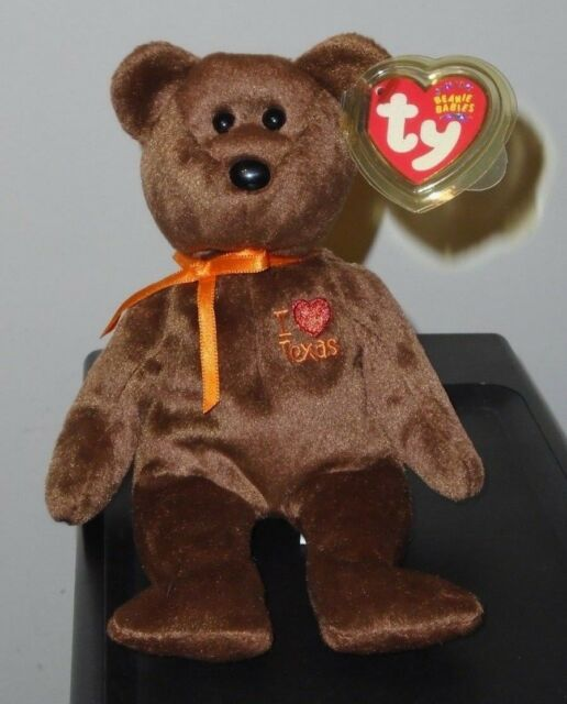 1dda88a6881 Ty Beanie Baby Bear I Love Texas W Proected Tag in Cond for sale ...