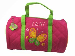 Image Is Loading Personalised Childrens Toddler 039 Erfly Duffle Bag