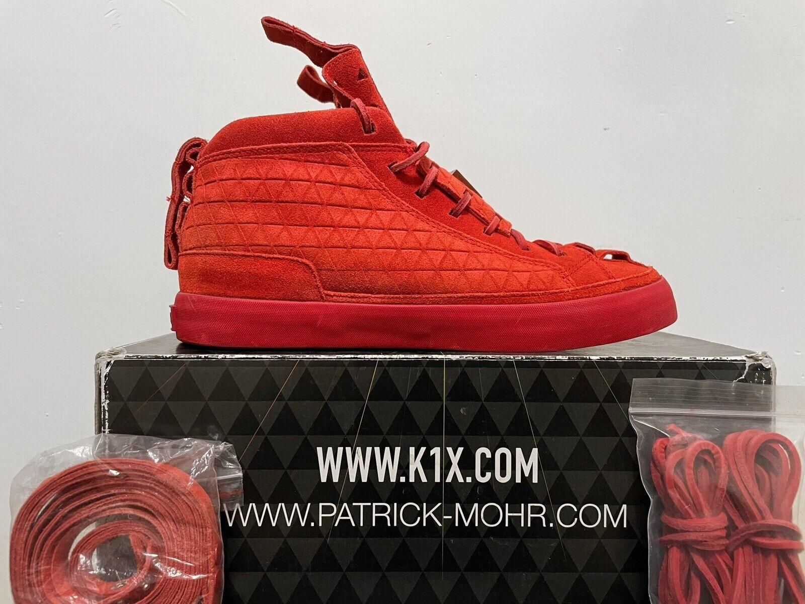 K1X Patrick Mohr Mk4 Size 9 LIMITED RARE OG Yeezy Red October Color