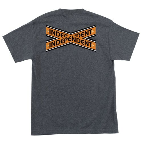 Independent Trucks INTERSECT Skateboard T Shirt CHARCOAL HEATHER LARGE