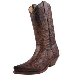 3241 Nieuwe Cowboylaarzen Python schoenen lederen Sendra Boots Herenschoenen iTOuwkPXZ