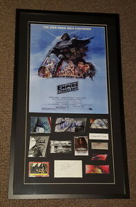Star-Wars-Empire-Strikes-Back-Cast-Signed-Framed-21x37-Poster-Display-PSA-JSA