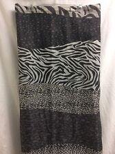 Shower Curtain Zebra Stripe Animal Print  Fabric 70x 71 WILD Black White P2