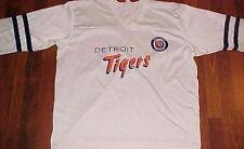 Torrez MLB AL East Detroit Tigers White 3/4 Sleeves Vintage Baseball Jersey L