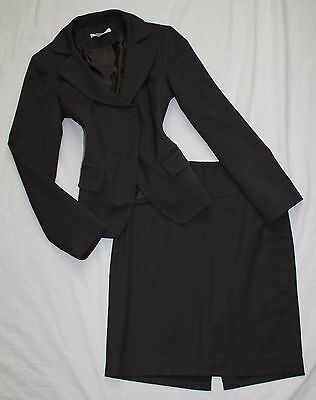 THE LIMITED Size 0 Women's Skirt Suit Dark Brown BEAUTIFUL!