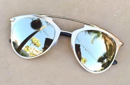 Big So Reflected Futuristic Technologic RAVE CAT WaYfe Meta Fashion Sunglasses L