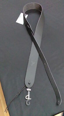 New Perri/'s Leathers Black Leather Adjustable Guitar Strap P20-177
