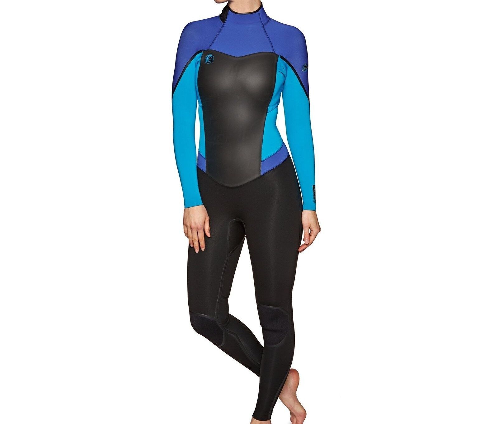 O'NEILL Women's 3 2 FLAIR Zen-Zip  Wetsuit - BLK SKY TAHITblue - 10 Tall - NWT  online outlet sale