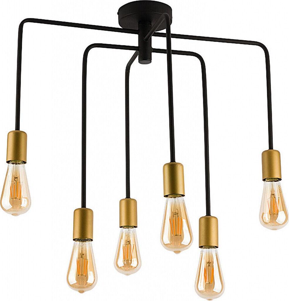 Deckenlampe Beleuchtung Wohnzimmer Schwarz Gold Geometrisch Industriestil 6-flmg 6-flmg 6-flmg 84fdab