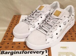 81e2fca004b Men s Puma Suede Classic x MCM - Size 10 - White Puma Black White ...
