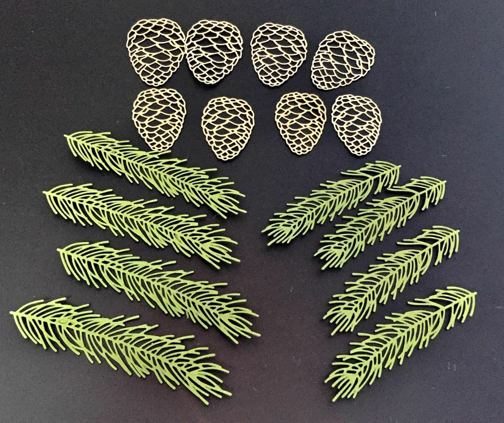 Pine Branch 664228 Tim Holtz Sizzix Thinlits Die Thinlits Die