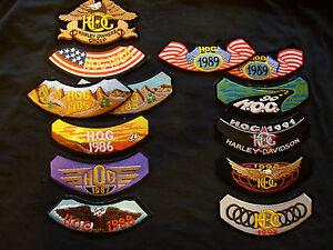 HD Harley Davidson HOG Harley Owners Group Aufnäher Patches Sammlung ab 1984 - Deutschland - HD Harley Davidson HOG Harley Owners Group Aufnäher Patches Sammlung ab 1984 - Deutschland