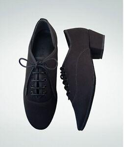 Angelo Luzio 108A/108L Adult Size 9.5B Black Josephine Ballroom Shoe