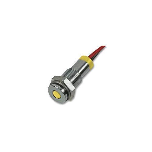 Q6f7cxxy12e APEM indicatore LED 6mm Flush GIALLO 12V