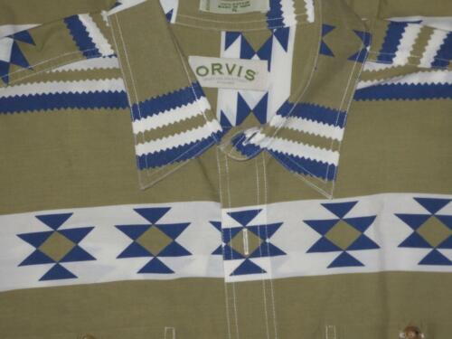 ORVIS Mens SOUTHWESTERN 100% Cotton INDIAN BLANKET