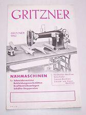 Prospekt Gritzner WKZ Nähmaschine 1936 Werbung Reklame ! (D