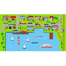 Connector Playmats Kids Toys Harbour Scene Panel 100% Cotton Fabric