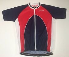 (XL) BERGAMO Red Blue Bike Jersey Ride Italy Commute Pedal Race campagnolo