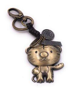 Schlüsselanhänger Oval mit Katze Tier Katze Haustier Wunschnamen
